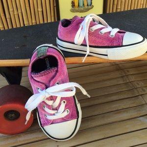 Converse Velvet Pink All Star Low Top Sneakers 6